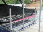 Silver Dust Trailer Guide Pads on Boat Lift